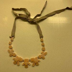 J.Crew cloth tie crystal necklace